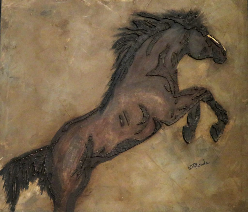 Dalton Rhonda Horse Sanctuary Chalk Paint on Canvas