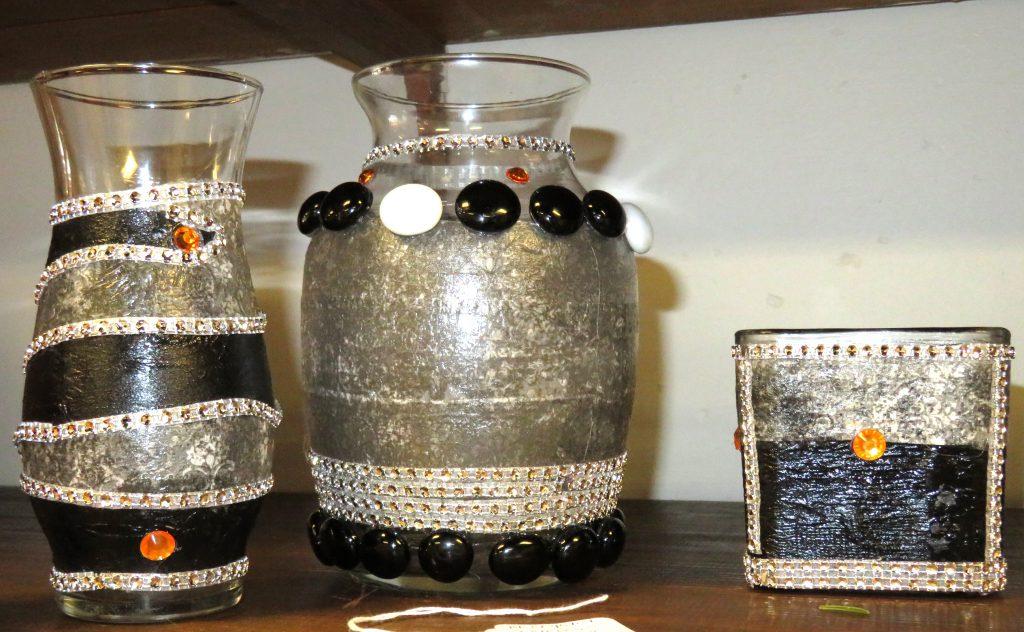 Johnson Desidre Black Crystal Glass 3 piece