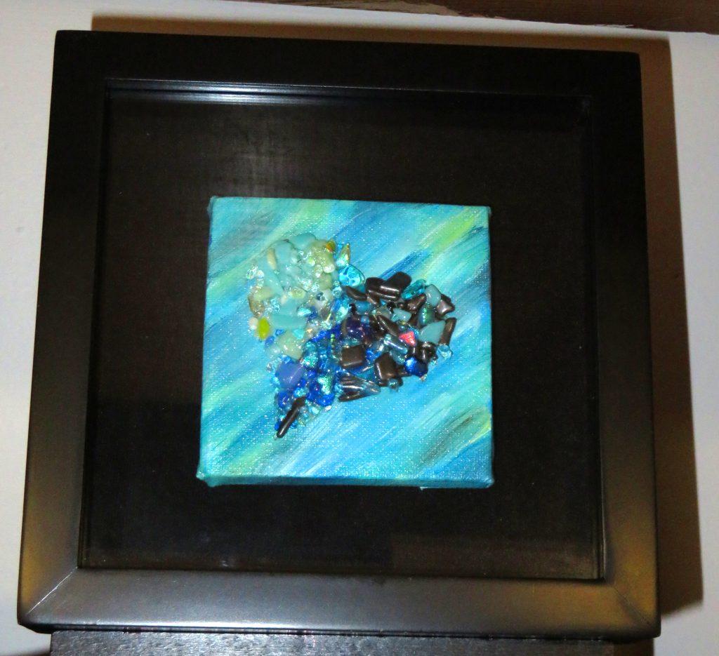 McCoy Dana Framed I'm so blue Heart Glass