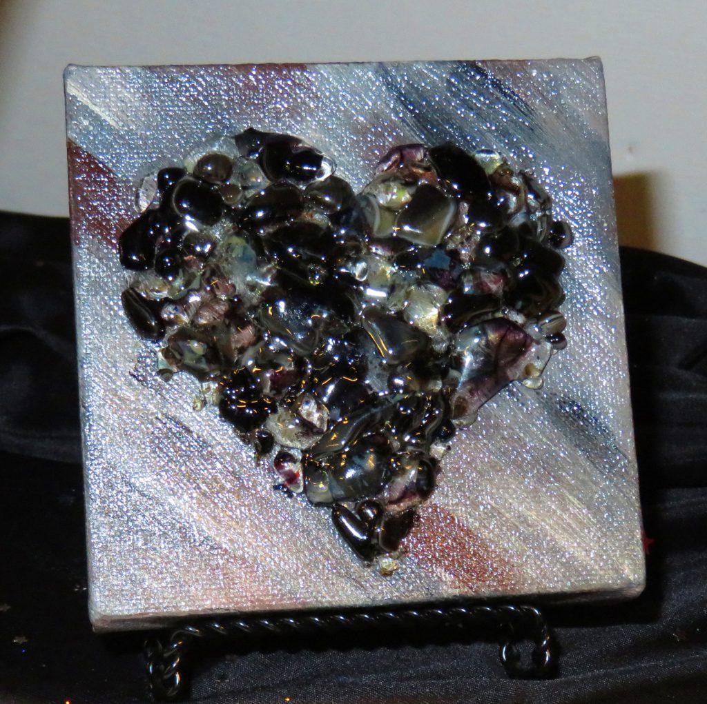 McCoy Dana Lost Love Black Heart Glass