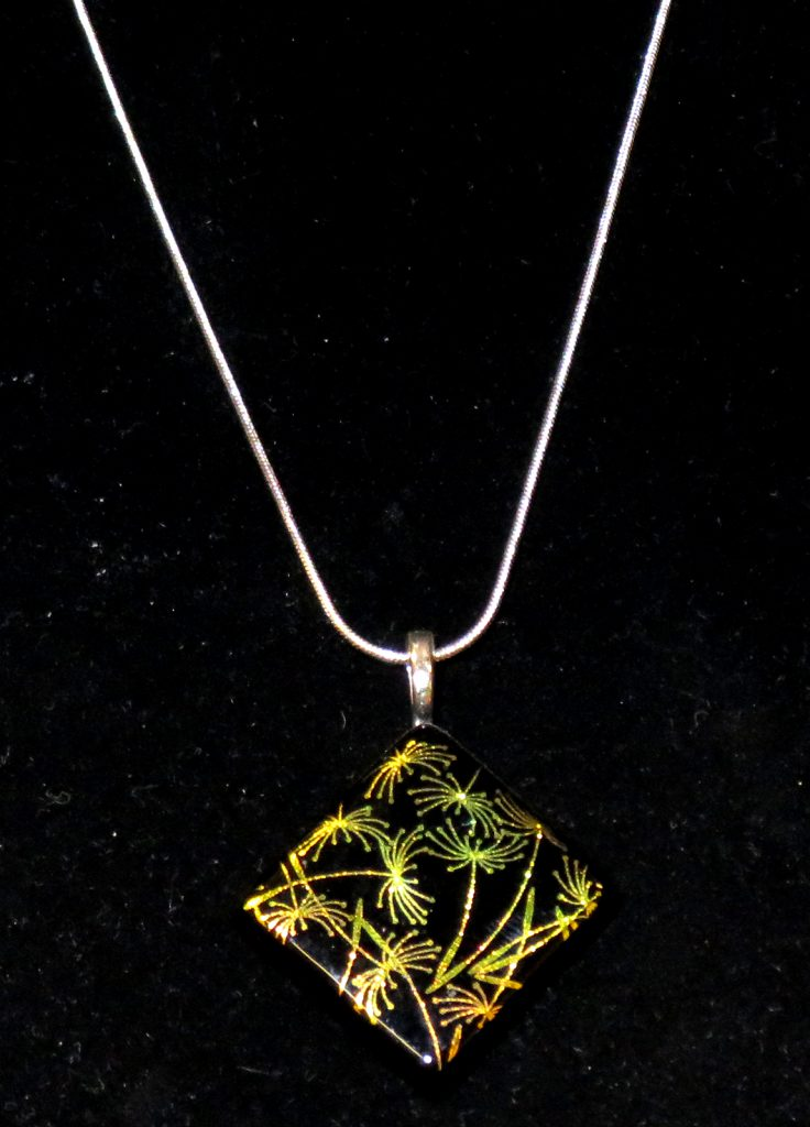 McCoy Dana Whispering Wind Necklace Glass