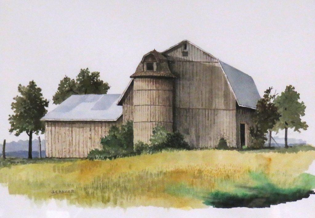 Schaver Vernon Olden Times Watercolor