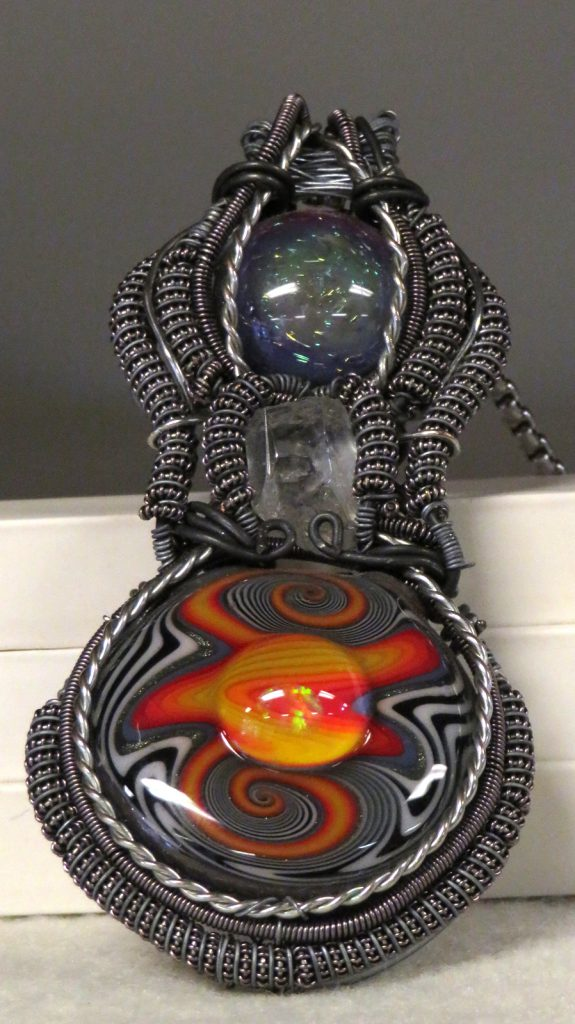 VanZuiden art Fury Necklace Wire and Glass